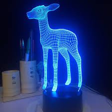<b>3D LED Lamp Light</b> USB Cute Small Deer 7 Colorful Night <b>Light</b> for ...