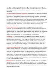 lead ana manage team effectivness relationships report