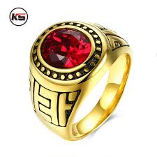 environmental forces promotion shop for promotional environmental fashion secret air force men s military rings stainless steel ip gold plated ruby main stone environmental material lead