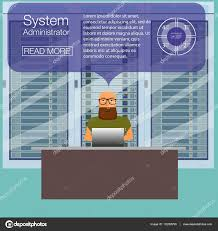 system administrator for work it administrator banners flat system administrator for work it administrator banners flat vector illustration network engineer administrator