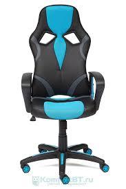 Купить Офисное <b>кресло TetChair Runner</b> кож.зам/<b>ткань</b>, черный ...