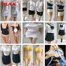 Custom <b>1/6 Scale Female</b> long sleeved round neck bottoming shirt ...