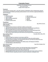 resume as a s associate in store retail s associate resume