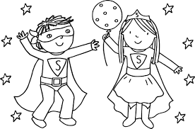 Small Picture Kids Girl Boy Superman Playing Superheroes Super Hero Coloring