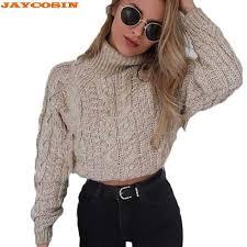 JAYCOSIN <b>New Fashion Design</b> Women <b>Colorblock</b> Stand Long ...