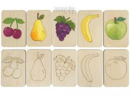 <b>Карточки</b>-<b>раскраски Wood Machine</b> Фрукты 11495.02