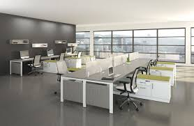 officeexclusive modern office design with elegant brown wooden table also grey file cabinet also apple office design