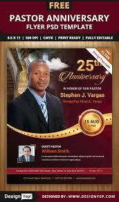 pastor anniversary flyer psd template designyep pastor anniversary flyer psd template