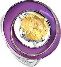 Серебряное кольцо <b>Kabarovsky</b> 11-154-7126 с эмалью, ситаллом ...