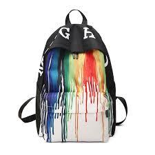 Buy Men's <b>Backpack</b> Large Capacity Zipper <b>Graffiti</b> Casual ...