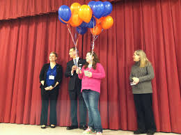 south hanover elementary student d millionaire for a day center fifth grader at south hanover elementary school receives the millionaire for a day essay contest prize from from left amy norris mid penn