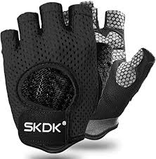 SKDK <b>Half</b>-<b>Finger Fitness</b> Exercise Gloves Cycling Gloves with ...