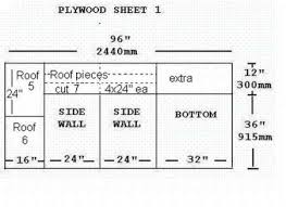 How To Build A Dog HouseMark Plywood Sheet   Side and Bottom  Floor  pieces