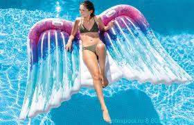 Надувной <b>матрас</b> большой <b>Крылья Intex</b> 58786 купить с ...
