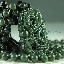 <b>100</b>% <b>natural green hetian</b> jade carved dragon blessing men's ...