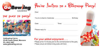 birthday party invitations go bowling cairns birthday party invitations cairns invitation