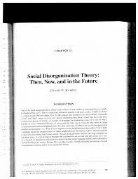 social disorganization theory essay social disorganization theory essay coursework social disorganization theory essay coursework