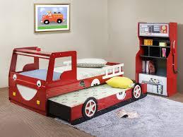 bedroom furniture bed designs for boy kid car beds with red color truck shape trundle boy kids beds bedroom