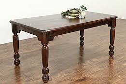 oak quarter sawn 1880s antique library or dining table writing desk antique office table