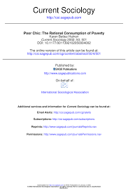 (PDF) Poor <b>Chic: The</b> Rational Consumption of Poverty