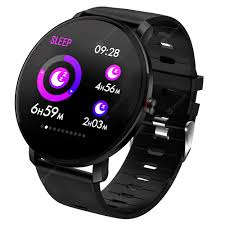 <b>DT41</b> Fitness Tracker Luminescent Screen <b>Smart Watch</b> Black ...