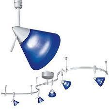 flexible track lighting system blue track lighting