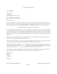 letter of interest format sample letter of interest in a career of interest sample format business letter letter of interest template