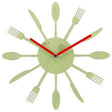 Silent Non-Ticking <b>Wooden Wall Clock</b> Unminuto, <b>New</b> Cook Time ...