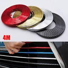 4M Car Bumper <b>Moulding Trim</b> Strip Wheel Hub <b>Protection</b> Ring ...