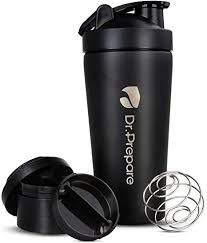 Dr. Prepare Protein <b>Shaker Bottle</b>, Stainless-Steel Sports Water ...