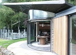 3 door curved glass sliding doors arched glass office doors