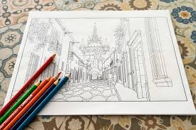 Small Picture Adult Coloring Book for Travelers