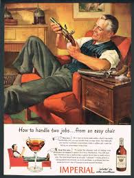 1944 magazine ad man cleaning 2 old pistols imperial whiskey 1944 magazine ad man cleaning 2 old pistols imperial whiskey manhattan