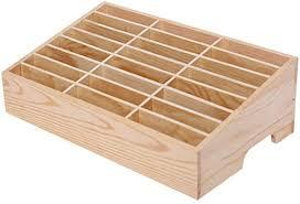 Lzttyee Wooden 24-Grid Cell Phones Storage Box ... - Amazon.com