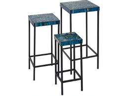 IMAX Corporation Living Room Peacock <b>Mosaic Tables</b> - Set of <b>3</b> ...