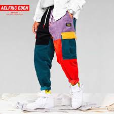 streetwear casual contrast color strip