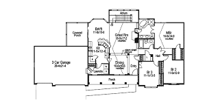 Foxbury Atrium Ranch Lovely Home Plan D    House Plans and MoreRanch House Plan First Floor   D    House Plans and More