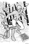 Раскраски для мальчика человек паук