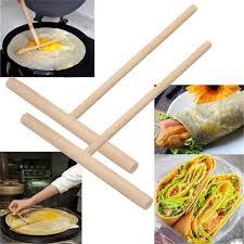 2 Pcs <b>Crepe</b> Maker <b>Pancake</b> Batter Spreader Stick Kitchen Tool ₱64