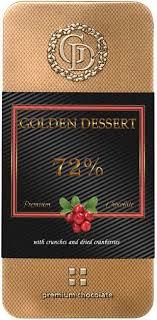 <b>Шоколад Golden Dessert горький</b> с клюквой, 100г | Супермаркеты ...