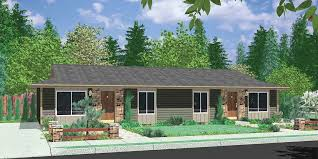 One level duplex house plans  corner lot duplex plans  narrow lotD  Duplex house plans  ranch duplex house plans  one level duplex house
