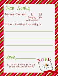 best photos of printable template christmas paper printable dear santa letter template