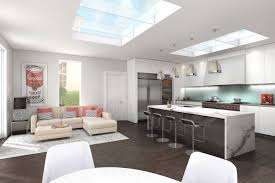 cgi modern house artist impression of a modern kitchen in a