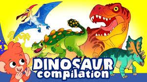 Learn <b>Dinosaurs</b> for Kids | Cute and Scary <b>Dinosaur Cartoons</b> | <b>t rex</b> ...