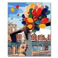 <b>WEEN</b> Lovers Holding <b>Hands</b> Abstract Figure Painting <b>Diy</b> Digital ...