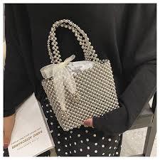 <b>Handmade Pearl Bag</b> Women <b>Luxury Handbags</b> Small Box Party ...