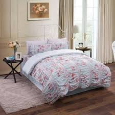 3pc blue pink shabby chic asian cherry blossom queen comforter set blue shabby chic bedding