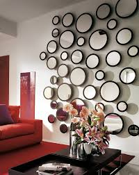 mirror wall decor circle panel: decorative different sized circle mirror wall decor