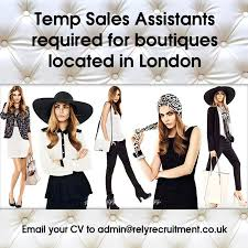 sales assistant   temp role     rely recruitmentattractive hourly rates  attractive hourly rates  sales assistant