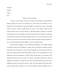 violence in a rose for emily english essy   studentshare violence in a rose for emily essay example